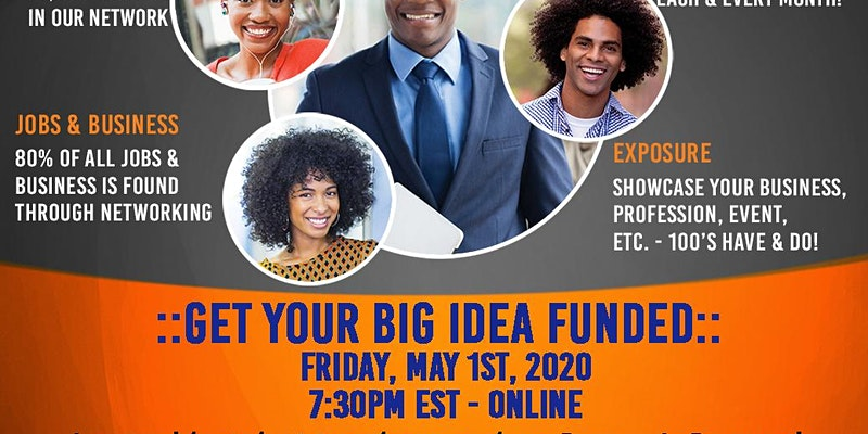 Virtual 1st Fridays: Get Your Big Idea Funded